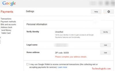 change location in google
