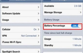 How to show battery percentage on iPhone, pixel, iPod